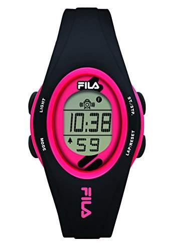 FILA Unisex-Armbanduhr Digital Quarz 38-050-105 FILACASUAL Schwarz Rosa Plastik