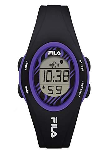 FILA Unisex-Armbanduhr Digital Quarz 38-050-106 FILACASUAL Schwarz Lila Plastik
