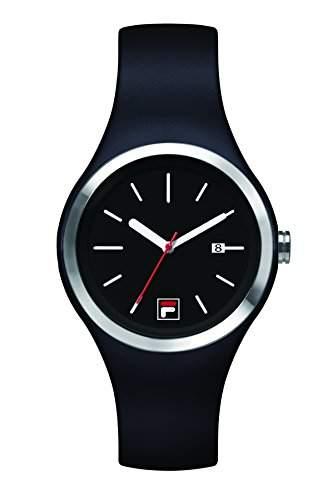 FILA Unisex-Armbanduhr Quarz 38-060-002 FILACASUAL Schwarz Silikon