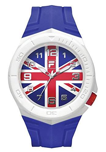FILA Unisex-Armbanduhr Fan Sport 38-072-011 FILACASUAL Grossbritannien Fahne Fanartikel
