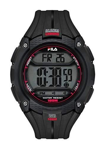 FILA Unisex-Armbanduhr Digital Quarz 38-094-001 FILACTIVE Schwarz Plastik