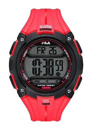 FILA Unisex-Armbanduhr Digital Quarz 38-094-003 FILACTIVE Rot Plastik