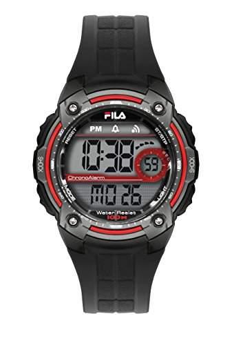 FILA Unisex-Armbanduhr Digital Quarz 38-095-001 FILACTIVE Schwarz Grau Plastik