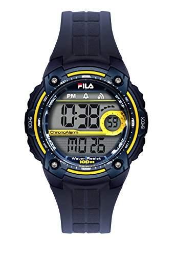 FILA Unisex-Armbanduhr Digital Quarz 38-095-002 FILACTIVE Blau Gelb Plastik