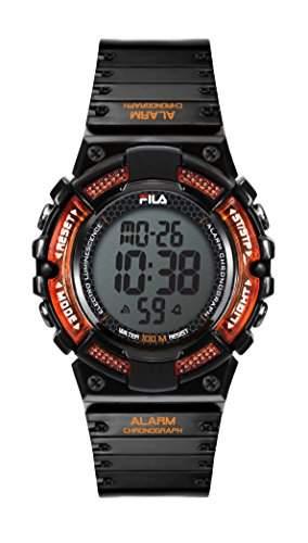 FILA Unisex-Armbanduhr Digital Quarz 38-097-001 FILACTIVE Schwarz Braun Plastik