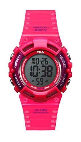 FILA Unisex-Armbanduhr Digital Quarz 38-097-003 FILACTIVE Rot Rosa Plastik