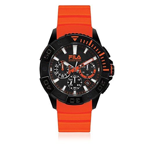 Fila Diving Orange Analog Dial Mens Chronograph Watch 38 040 002