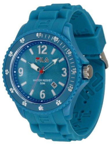 Fila Summertime fa 1023 56 Armbanduhr Quarz Analog Zifferblatt Blau Armband Silikon Blau