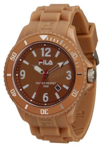 Fila Summertime fa 1023 29 Armbanduhr Quarz Digital Zifferblatt braun Armband Silikon braun