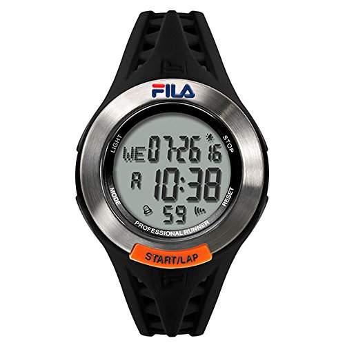FILA Unisex-Armbanduhr Digital Quarz 38-003-001 FILACTIVE Schwarz Silber Plastik