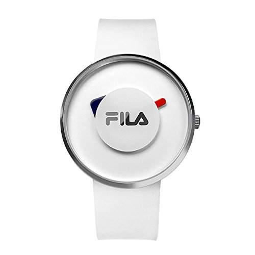 FILA Unisex-Armbanduhr Analog Quarz 38-019-001 FILASHION Weiss Silikon