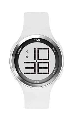 FILA Unisex-Armbanduhr Digital Quarz 38-038-002 FILACASUAL Weiss Silikon