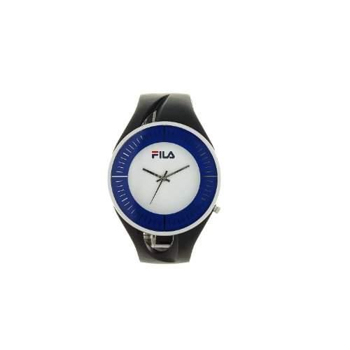 Fila Unisex Weiss Zifferblatt Armbanduhr fl38011001mit PU-Gurt