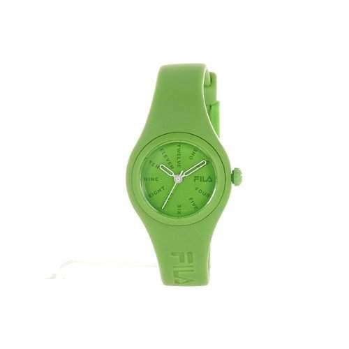 Fila Uhr gruenes Zifferblatt FL38017008 gruen Kunststoff-Buegel-Uhr