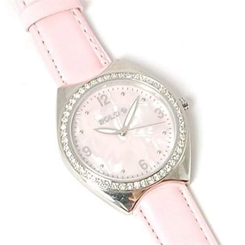 Solo - 3240104 - Damenuhr mit pinkem Armband und Perlmuteffekt
