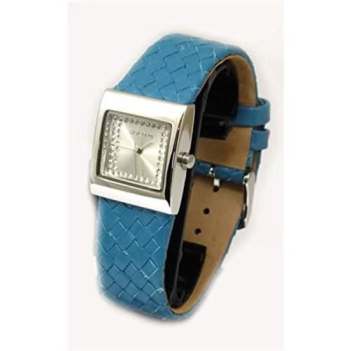 Solo - G362 - blaue Damenuhr mit gewebten Lederarmband
