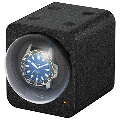 Boxy Fancy Brick Uhrenbeweger Farbe Schwarz Lederoptik