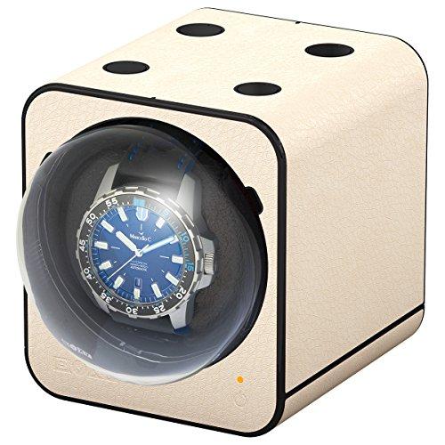 Boxy Fancy Brick Uhrenbeweger Farbe Creme Lederoptik