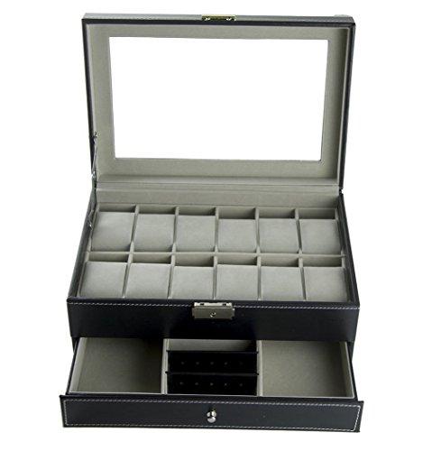 Feibrand PU Armbanduhr Box fuer Uhren Armbaender