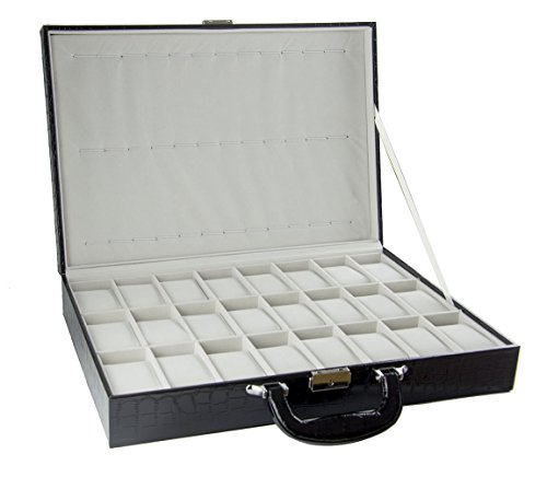 Feibrand PU Uhrenbox fuer 36 Uhren