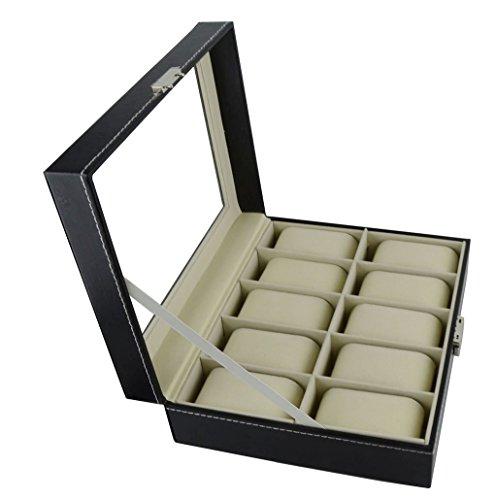 Feibrand Uhrenbox fuer 10 Uhren mit Key