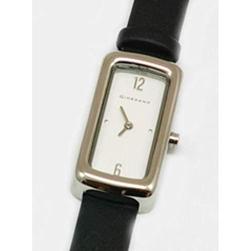GIORDANO - 2044-2 Damenuhr mit Weissem Zifferblatt und Schwarzem Stoff-Armband