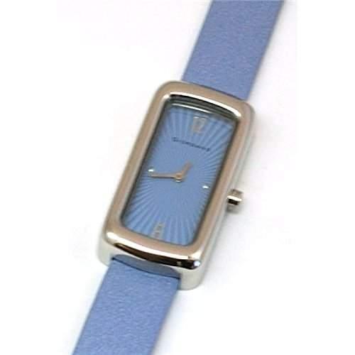 GIORDANO - 2044-3 Blaue Damenuhr mit Textilarmband