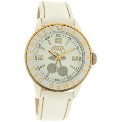 Le Temps des Cerises Damen-Armbanduhr TC76 GOLD Analog Quarz Weiss TC76GDWTC