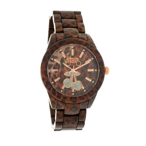 Le Temps des Cerises Damen-TC88BRR TC84-Armbanduhr Alyce Quarz analog, Zifferblatt: braun