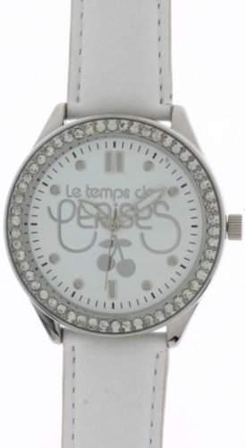 Le Temps des Cerises Damen-Armbanduhr TC54 Analog Quarz Weiss TC54WTC