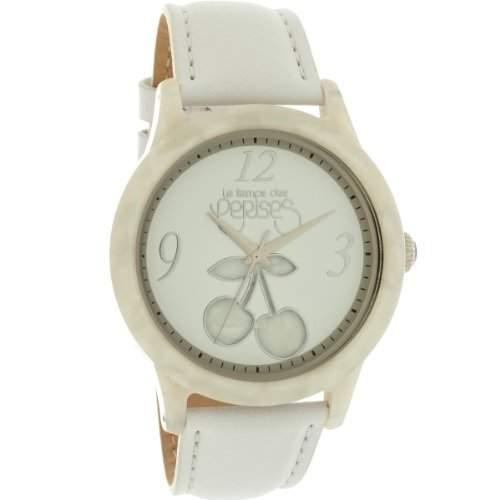 Le Temps des Cerises Damen-Armbanduhr TC96WTC Quarz analog Leder Weiss