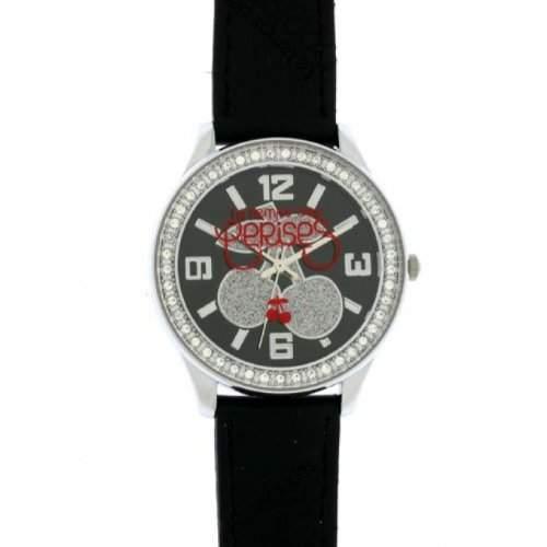 Le Temps des Cerises tc46bkc Damen Armbanduhr, Leder, Farbe: schwarz