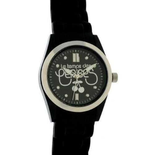 Le Temps des Cerises tc50bkpu-TC50Set Damen-Armbanduhr-Quarz Analog-Zifferblatt schwarz Armband Silikon Schwarz