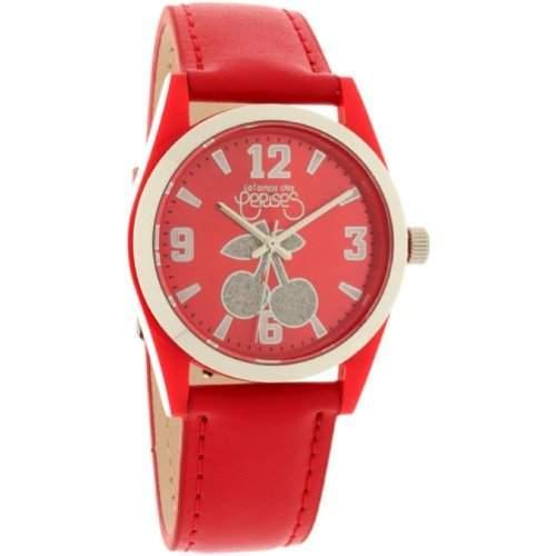 Le Temps des Cerises Damen-Armbanduhr TC14 CUIR Analog Quarz Rot TC14RDC