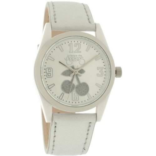 Le Temps des Cerises Damen-Armbanduhr TC14 CUIR Analog Quarz Silber TC14SLC