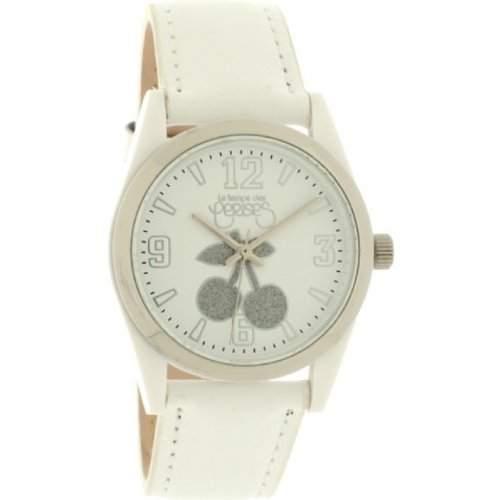 Le Temps des Cerises Damen-Armbanduhr TC14 CUIR Analog Quarz Weiss TC14WTC