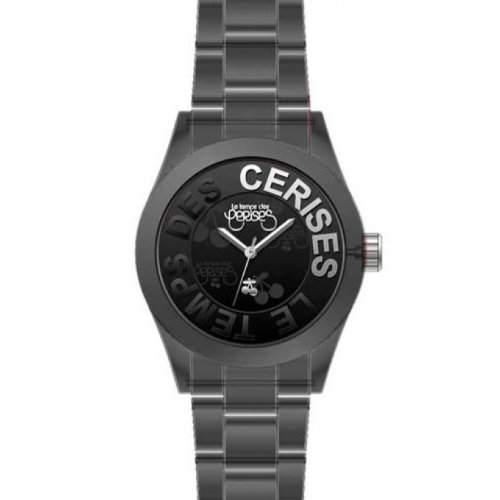 Le Temps des Cerises Damen-Armbanduhr TC37 Analog Quarz Schwarz TC37TBKR
