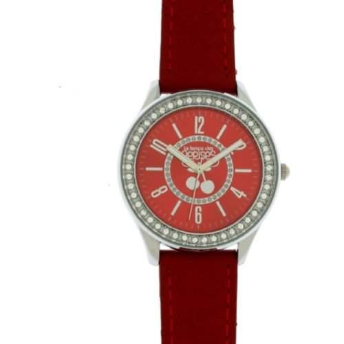 Le Temps des Cerises tc46rdc2-TC46Damen-Armbanduhr-Quarz Analog-Zifferblatt Rot Armband Leder rot