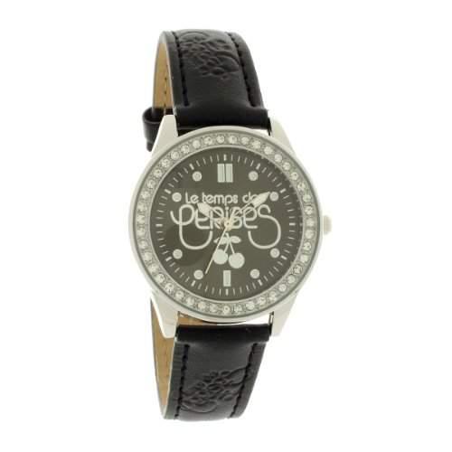 Le Temps des Cerises Damen-Armbanduhr TC54 SMALL Analog Quarz Schwarz TC54BKCS