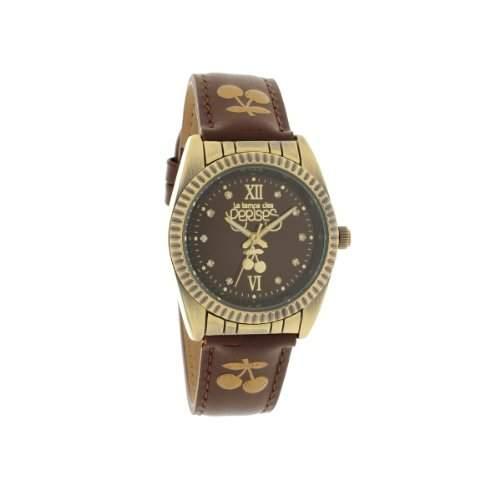 Le Temps des Cerises tca01brc2-TC Caps Antic Damen-Armbanduhr 045J699Analog braun Armband Leder braun