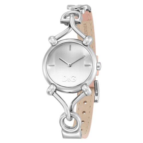 D G Dolce Gabbana Damen Armbanduhr FLOCK 2H SILVER DIAL PINK STRAP DW0497