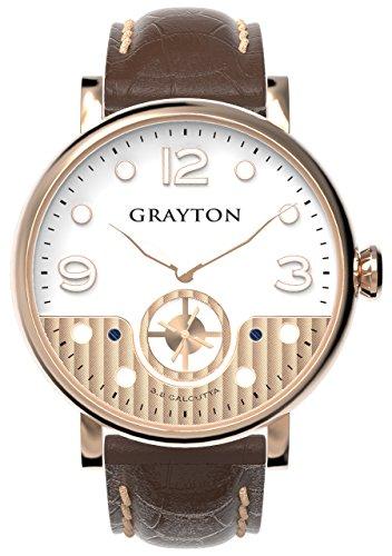 Grayton Herren Armbanduhr S 8 Calcutta Analog Quarz Leder GR 0014 007 1