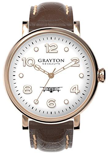 Grayton Herren Armbanduhr S 8 Calcutta Analog Quarz Leder GR 0014 007 5