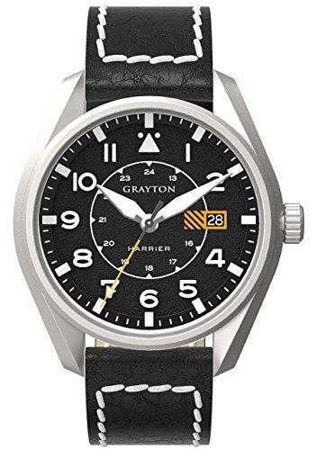 Grayton Herren Armbanduhr Harrier Analog Quarz Leder GR 0014 005 1