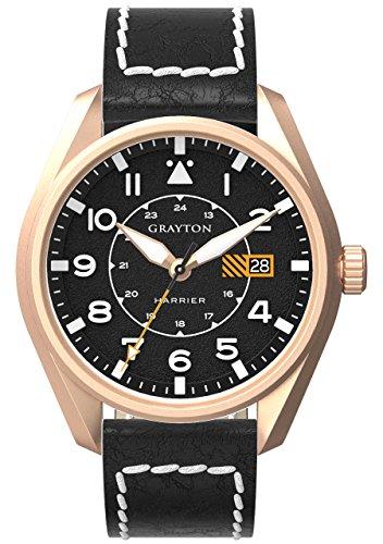 Grayton Herren Armbanduhr Harrier Analog Quarz Leder GR 0014 005 3