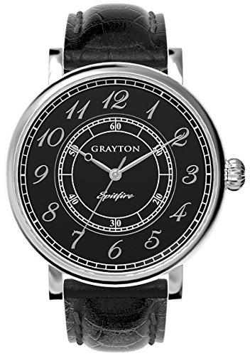 Grayton Herren Armbanduhr Spitfire Analog Quarz Leder GR 0014 001 3