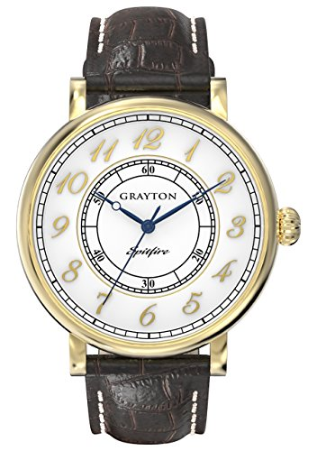 Grayton Herren Armbanduhr Spitfire Analog Quarz Leder GR 0014 001 5