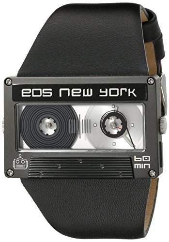 Eos New York Mixtape Watch schwarz  black Unisex Uhr im Kassettenlook Tape 302SBLK
