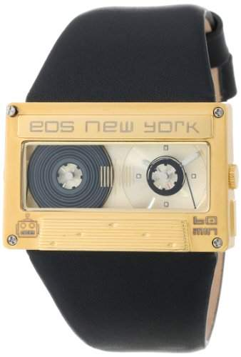 Eos New York Mixtape Watch gold  black Unisex Uhr im Kassettenlook Tape 302SBLKGLD