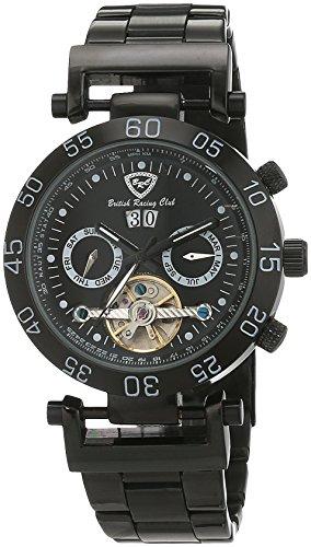 British Racing Club Herren Armbanduhr Chronograph Automatik Edelstahl BRC Estoril S S M